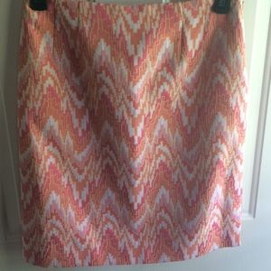 Talbots 8 Skirt Knee Length Abstract Lined